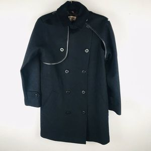 Coach 2 Black Wool Convertible Trench Coat